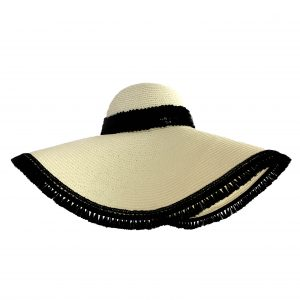 <strong>MONACO</strong><br>Straw Sunhat With Tassels and Glossy Sequins Band