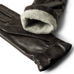 <strong>ROMA </strong><br>Lambskin Leather Gloves With Knot